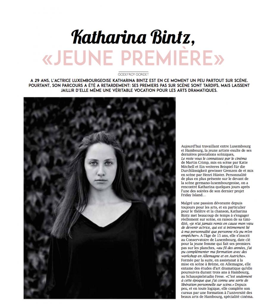 Katharina Bintz Presse Interview Portrait